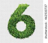 number six of green grass. a... | Shutterstock .eps vector #462533737