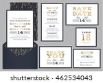 set of modern wedding suite... | Shutterstock .eps vector #462534043