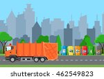 city waste recycling concept...   Shutterstock .eps vector #462549823