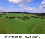 Aerial View Of Green Meadows...