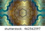 gold decor on a light blue... | Shutterstock .eps vector #462562597