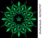round pattern from cannabis... | Shutterstock .eps vector #462563707