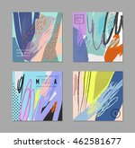 set of creative universal cards.... | Shutterstock .eps vector #462581677