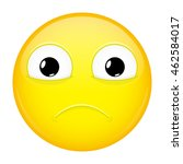 almost crying emoji. sad... | Shutterstock .eps vector #462584017