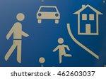 school warning sign. | Shutterstock . vector #462603037