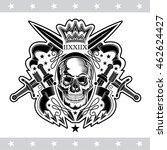 skull front view in center of... | Shutterstock .eps vector #462624427