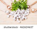 medicine herb. herbal pills... | Shutterstock . vector #462624637