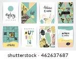 set of artistic creative autumn ... | Shutterstock .eps vector #462637687