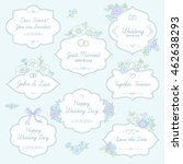 set of wedding labels with... | Shutterstock .eps vector #462638293