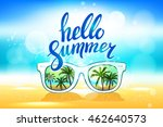 white sunglasses reflection... | Shutterstock .eps vector #462640573