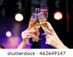 clinking glasses of champagne... | Shutterstock . vector #462649147