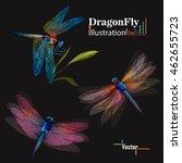 Dragonfly. Set Of Three...