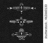 uncommon ethnic vector hand... | Shutterstock .eps vector #462660133