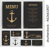 restaurant menu template.... | Shutterstock .eps vector #462661807
