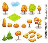 Isometric Autumn Trees Set....