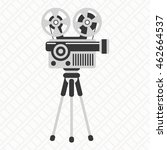 retro cinema icon. movie... | Shutterstock .eps vector #462664537