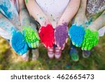 hands   palms of young people... | Shutterstock . vector #462665473