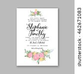 wedding invitation or card with ... | Shutterstock .eps vector #462671083
