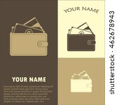 vector wallet for cards and... | Shutterstock .eps vector #462678943