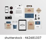 corporate identity template set ... | Shutterstock .eps vector #462681337