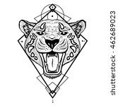 textured stylized jaguar.... | Shutterstock . vector #462689023