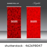red roll up banner template ... | Shutterstock .eps vector #462698047