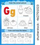 alphabet learning letters  ... | Shutterstock .eps vector #462701023