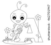animal alphabet coloring book... | Shutterstock .eps vector #462701947