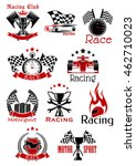 motorsport icons and symbols... | Shutterstock .eps vector #462710023