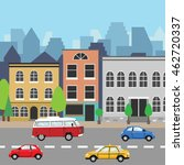 city street view. city road... | Shutterstock .eps vector #462720337