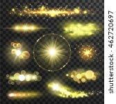 golden glittering stars.... | Shutterstock .eps vector #462720697