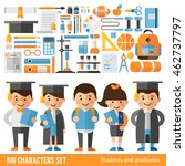 set of characters and icons on... | Shutterstock .eps vector #462737797