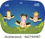 stickman illustration of... | Shutterstock .eps vector #462744487