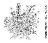 flower doodle drawing freehand...   Shutterstock .eps vector #462750427
