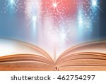 open book with blue abstract... | Shutterstock . vector #462754297
