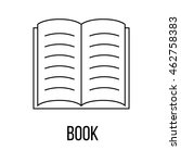 book icon or logo line art...