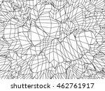 wave grid background. 3d... | Shutterstock .eps vector #462761917