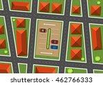aerial view of neighborhood...   Shutterstock .eps vector #462766333