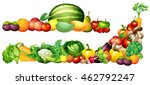 pile of fresh vegetables and... | Shutterstock .eps vector #462792247