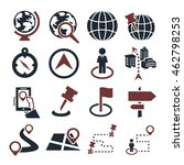 location  place icon set | Shutterstock .eps vector #462798253