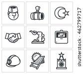 vector set of relations between ... | Shutterstock .eps vector #462799717