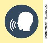 web icon of speaks. | Shutterstock .eps vector #462809923