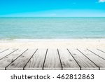 old wood table top on blurred... | Shutterstock . vector #462812863