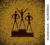 sport winners on pedestal icon... | Shutterstock .eps vector #462830863