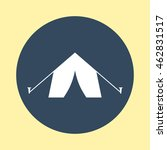 web icon of tent. | Shutterstock .eps vector #462831517