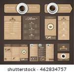 design coffee menu  a banner  a ... | Shutterstock .eps vector #462834757