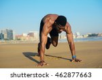 mountain climbers exercise. fit ... | Shutterstock . vector #462877663