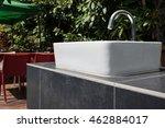 hand washing basin in the garden | Shutterstock . vector #462884017