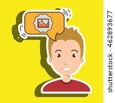 man communication photo bubble... | Shutterstock .eps vector #462893677