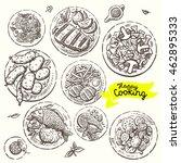 hand drawn illustrations of... | Shutterstock .eps vector #462895333